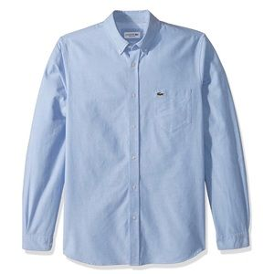 Lacoste blue button down oxford long sleeve shirt